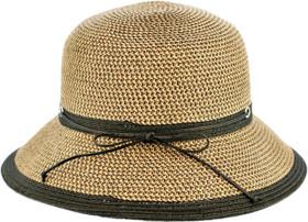 Karen Keith - Tweed and Black Braided Cloche Hat