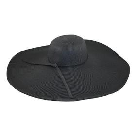 "Jeanne Simmons - Black 8"" Brim Sun Hat"