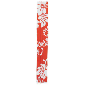 Kenny K - Red Triple Pleat Floral Hat Band