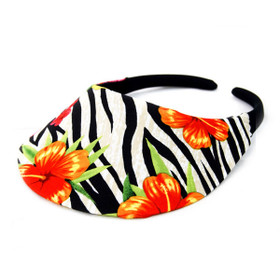 No Headache - Jungle Bloom Midsize Floral Visor Hat