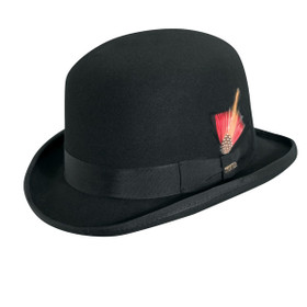 Scala - Black Derby Wool Felt Hat