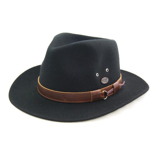 Bigalli - Black Outback Felt Fedora Hat