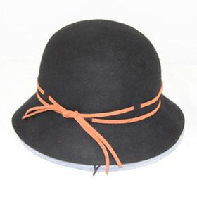 Jeanne Simmons - Wool Felt Roll Up Cloche Hat