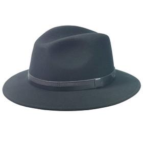 TLS Stefeno - Black Wool Felt Safari Hat