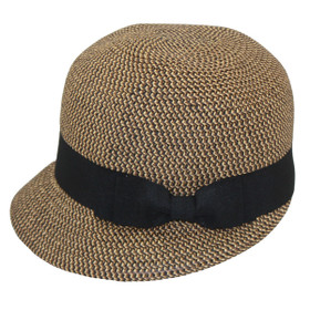 Jeanne Simmons - Brown Tweed Backless Bucket Hat