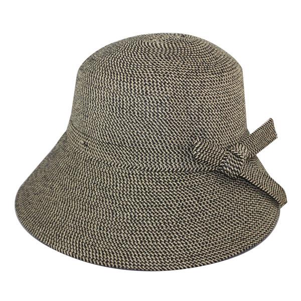 Jeanne Simmons - Black Paper Braid Bucket Hat