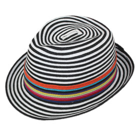 Jeanne Simmons - Black and White Fedora