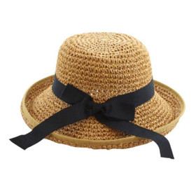 California Hat Company - Beige Ladies Toyo Crochet Hat with Band