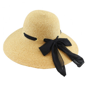 California Hat Company - Beige Ladies Sewn Braid Straw Hat