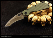 Mick Strider Custom - NM Brown Damascus Tanto SMF with RG G-10