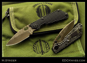 Mick Strider Custom - SnG - GG - Brown Damascus