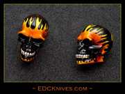 Skull - Flames - Small