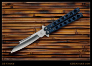 "29 Knives - 4"" Utak - Black/Blue G10 - Latchless"