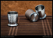 Jeff Hanko, Ti Shot Glass, Dragon Scales