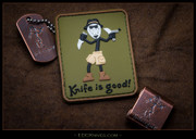 Knife is Good, Patch, PVC