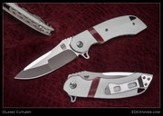 Olamic Cutlery,  Wayfarer, White w/Red CTek Stripe