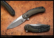 Begg - Bodega, Carbon Fiber with OD Green Inlays, High Hollow