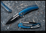 Begg Bodega, Blue Fan, Two-Tone Blade