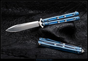 EDC Knives BM51-Ti  - Gunner Grip - Blue with Silver