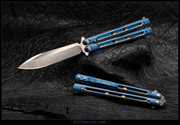 EDC Knives BM51-Ti  - Gunner Grip - Blue with Gold