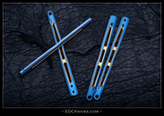 EDC BM51-Ti Scales Only - Gunner Grip - Blue with Gold Accent