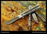 Dobruski Balisong - High Hollow Recurve - Ti Skeleton