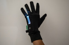 Light up Running gloves, white light
