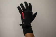 Light up Running gloves, red light