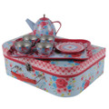 Tiger Tribe Vintage Tin Tea Set - Rose Garden