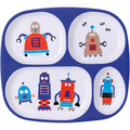 Robot 4-compartment toddler plate