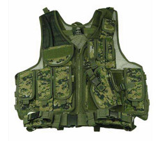 Youth/Adult Woodland Digital Camouflage Tactical Vest Front
