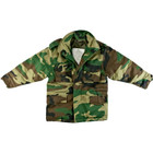 Kids M-65 Field Jacket - Woodland Camo - Front