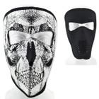 Reversible Neoprene Facemask - Black and Skull