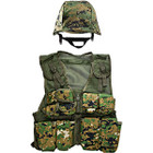 M88 Replica Helmet with Woodland Digital Cover and Kids-Army Woodland Digital Vest