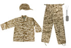 Army Style Dog Tags with Engraving, Kids BDU Pants - Desert Digital, Kids BDU Shirt - Desert Digital,