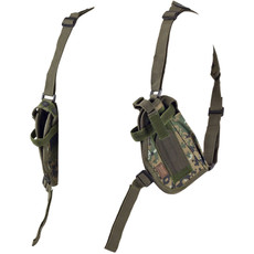 Woodland Digital Camo Double Draw Shoulder Holster - Left Side