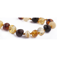 Children's 100% Baroque Multi Colour Baltic Amber Healing Anklet - Beads (Approx. 3g) - 14/15cm -**FREE SHIPPING**