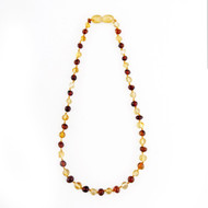 Children's 100% Baltic Amber Honey and Lemon Baroque Childs Healing Necklace (Approx 33cm)