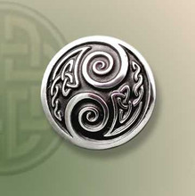 Fancy Two Spirals Lapel Pin
