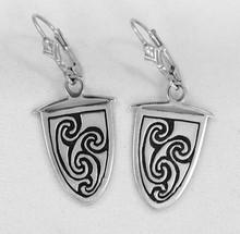 Durrow Spiral Dangle Pendant Earrings