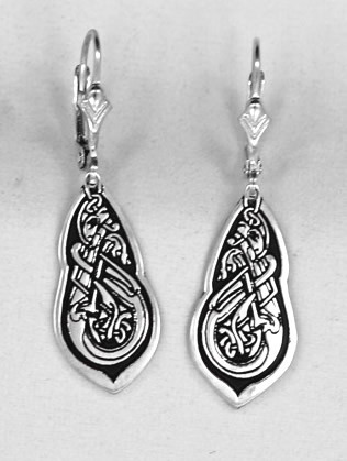 0cb77f298 Celtic Jewelry - Three Lions Sterling Silver Dangle Pendant Earrings