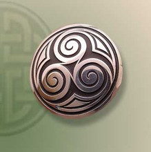Three Spirals Brooch