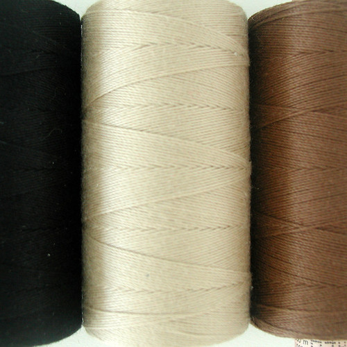 Thread used for creating custom handmade wefts