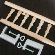 Wefting Poles and Clamps