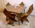Unique Rare DINING ROOM SET Furniture Table & Chair Set