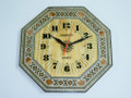 Handmade Syrian Mosaic Octagonal Shape Wall Clock English Numbers
