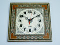 Handmade Mosaic Art Square Shape Art Wall Clock  New Home Presentation