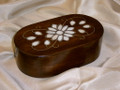 Mother Day Gift Idea Walnut and mother of Pearl Box