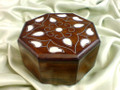 Mother's Day Gift Idea Walnut Box Decorated Mother of Pearl