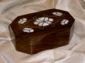 Mother Day Gift Idea Walnut and mother of Pearl Box.